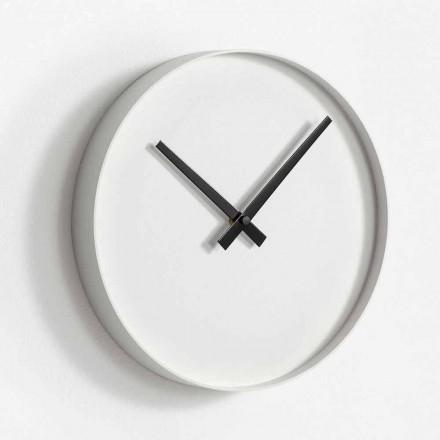 Ceas de perete cu design rotund din metal pictat mat - Orogio