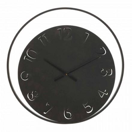 Ceas de perete rotund Diametru 60 cm Modern în fier - Beatrix