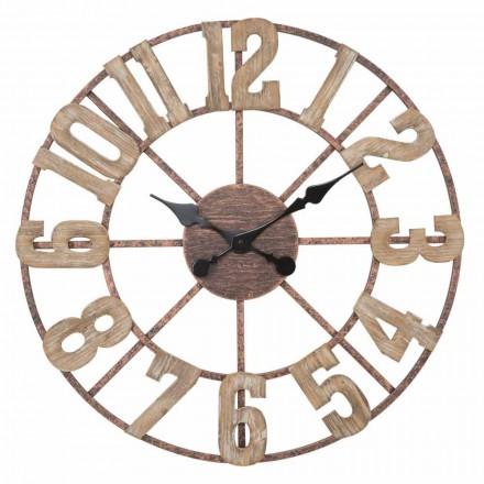Ceas de perete rotund Design modern în fier și MDF - Taichi
