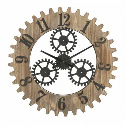 Ceas de perete rotund de design modern din fier și MDF - Gitta