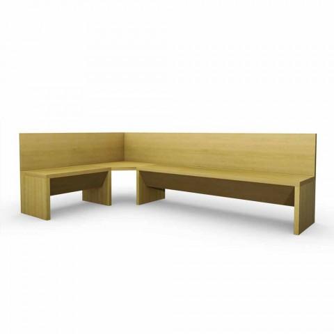 Banchetă din lemn de stejar cu design modern, Cassy