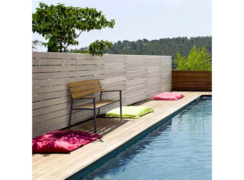 Bancă de grădină cu structură din aluminiu antracit, Homemotion - Isotta