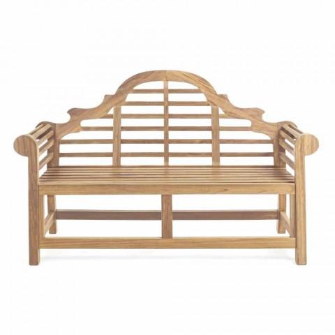 Bancă de grădină din lemn de teak cu design rustic - Simonia