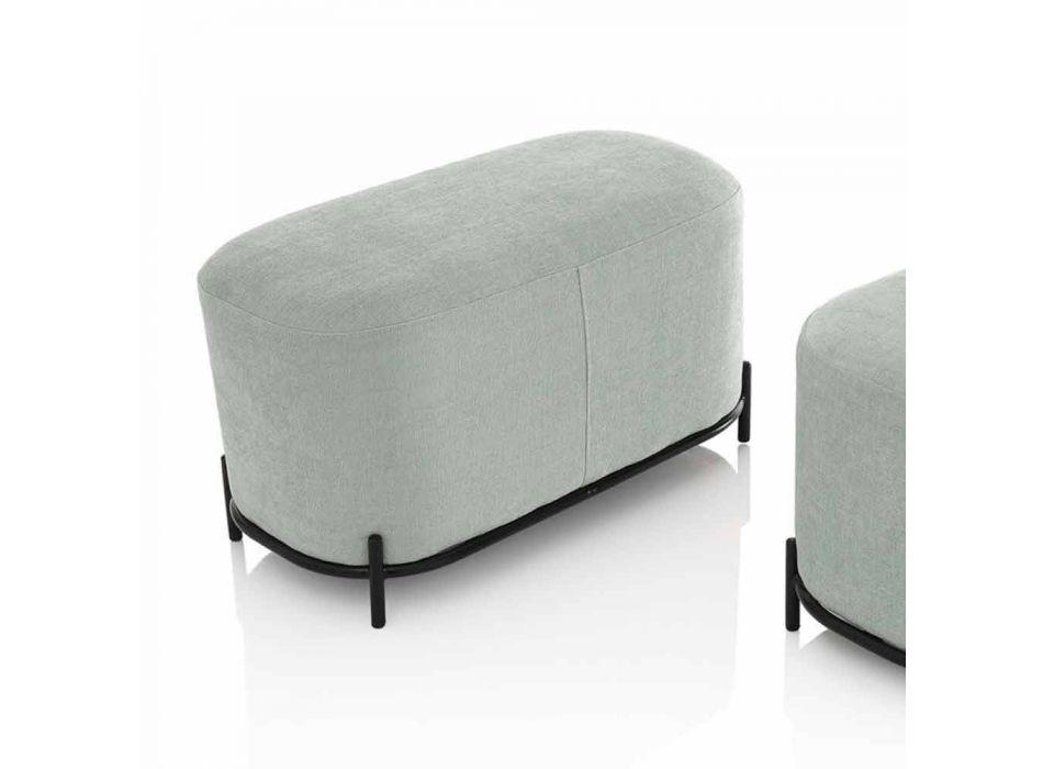 Bancă pentru cameră de zi sau dormitor în țesătură de design verde menta - Ambrogia