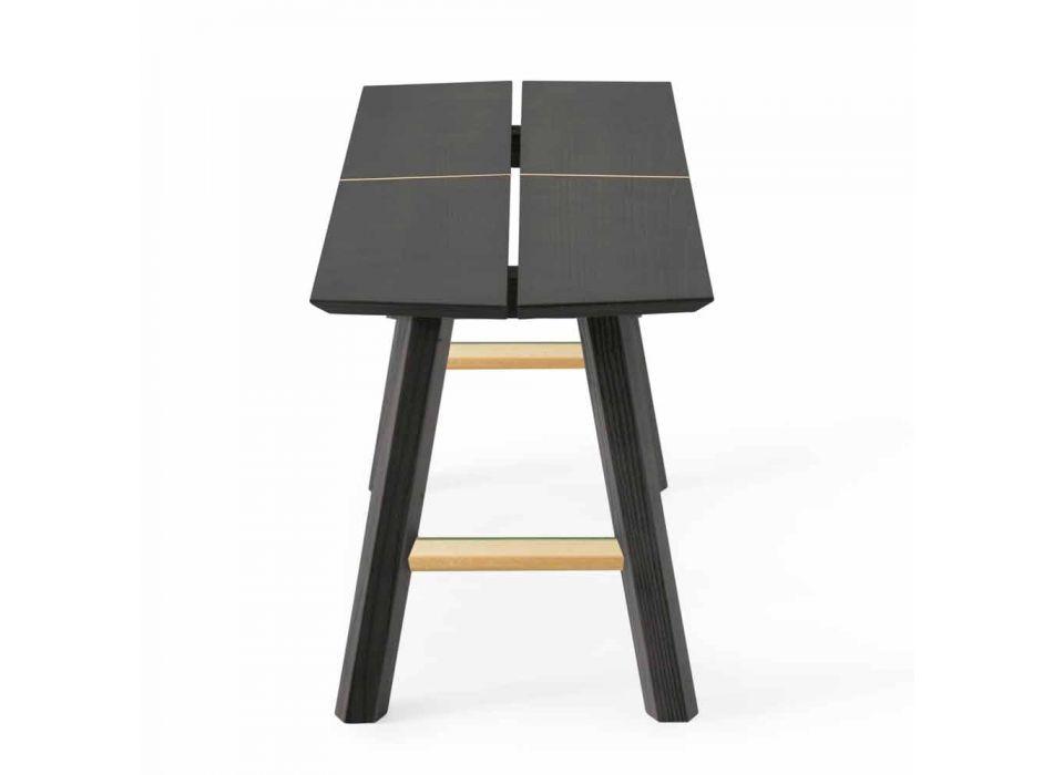 Banc modern de design din lemn de frasin cu scaun furnir - Andria