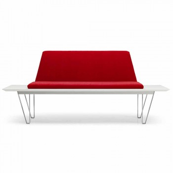 Băncuță tapițată și tapițată din oțel și bază MDF Design minimal modern - Gardena