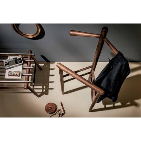 Banc pentru bagaje din nuc solid sau cenușă fabricat în Italia - Anubi