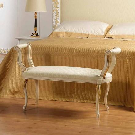 Bench Mat fildeș design clasic, cu ornamente de aur Tyler