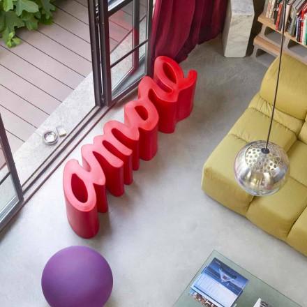 Slide Love bancă în aer liber pentru design exterior / interior colorat
