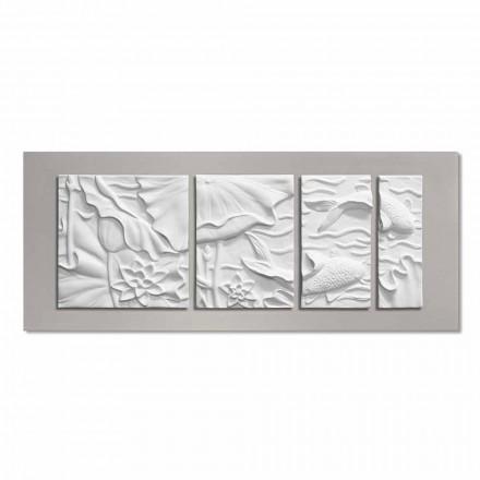 Panou de perete decorativ Modern Design Ceramica albă și gri - Giappoko