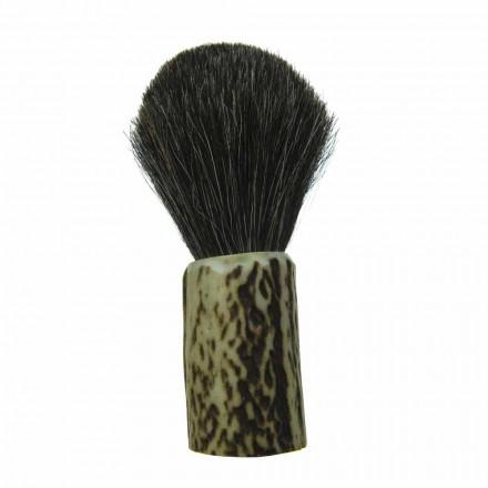 Perie de bărbierit realizată manual cu peri de păr de cal Made in Italy - Euforia