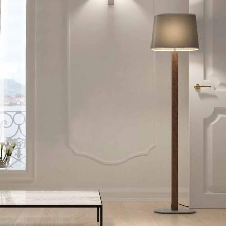 Lampă de podea cu design modern, din metal, cu abajur din țesătură Made in Italy - Jump