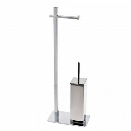 Stand modern de fier pentru perie și rolă de toaletă Fabricat în Italia - Cali