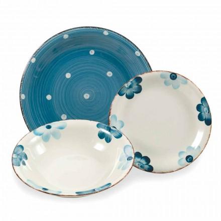 Serviciul de plăci din gresie colorat și modern 18 bucăți de design de masă - Mita