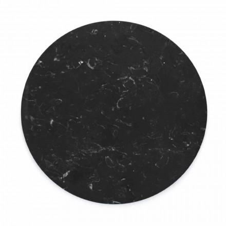 Placă rotundă de brânză în marmură albă sau neagră, fabricată în Italia - Kirby