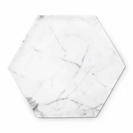 Placă de proiectare hexagonală în marmură albă de Carrara Fabricată în Italia - Sintia