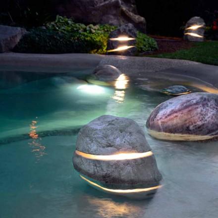 lumina de piatra decorativa prin imersie iluminant de două ori cu 2 fante
