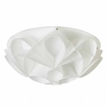 Design 2 lumini plafon de culoare alb perlat moderne, diam.43cm, Lena