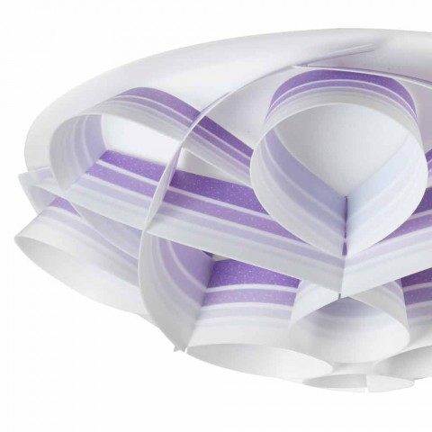 4 lumini de plafon în design modern, realizate în Italia, diam. 70 cm, Lena
