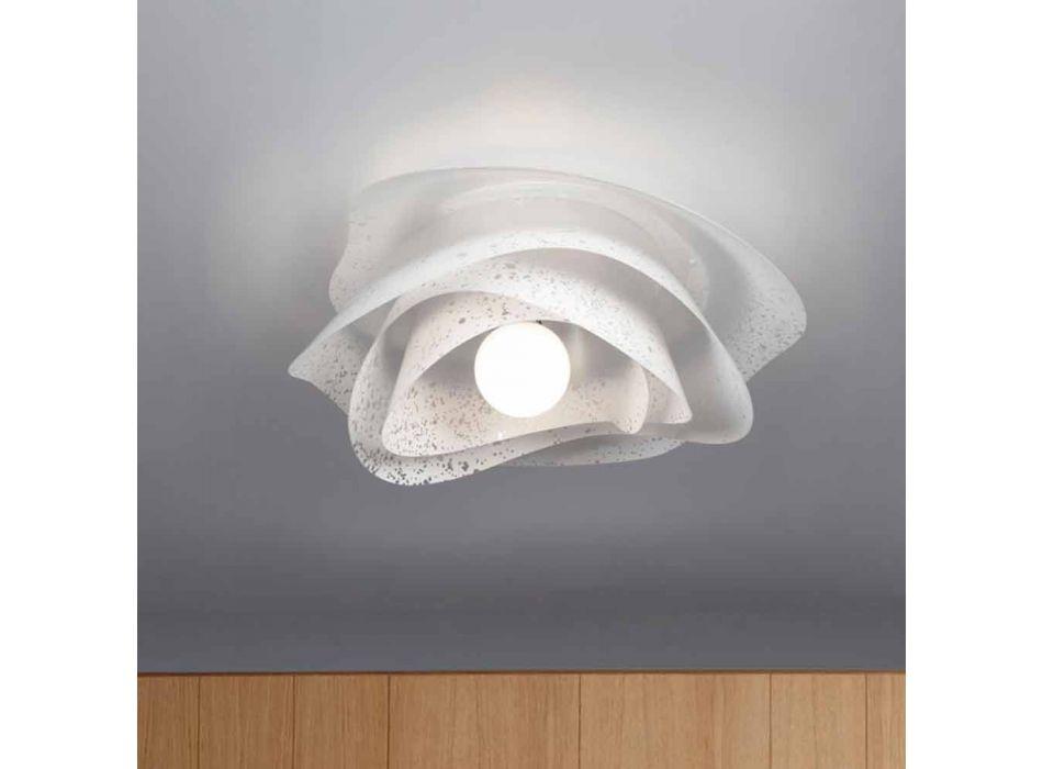 alb de design modern, de 55 cm diametru plafon Antalya, fabricate in Italia