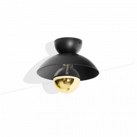 Lampă de tavan cu design metalic cu detaliu finisaj auriu Fabricat în Italia - Valta