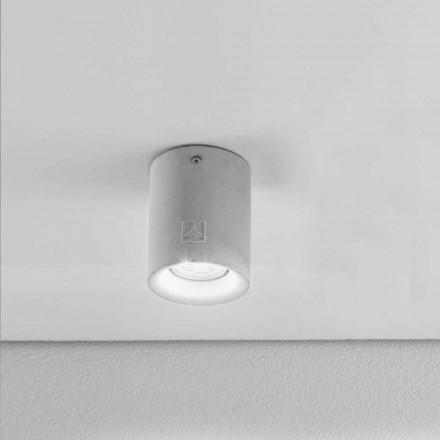 lampa de tavan rotund exterior ipsos / ciment Nadir 10 Aldo Bernardi