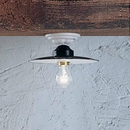 plafon rustic lampă plafon rotund Ferroluce Putere ceramica