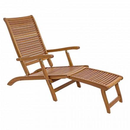 Lungă de șezlong înclinată în lemn natural - Roxen