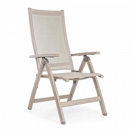 Fotoliu reclinabil în aer liber cu structură din aluminiu, Homemotion - Ursula