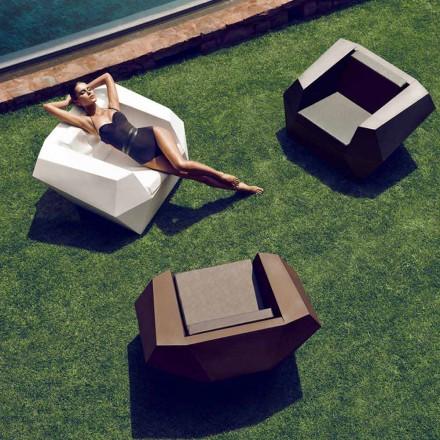 Scaun modern în aer liber, din polietilenă, Faz de Vondom