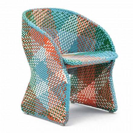 Fotoliu de grădină din fibre sintetice împletite colorate - Maat by Varaschin