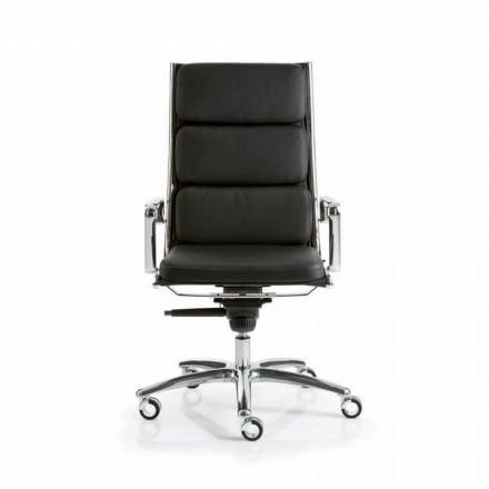 scaun de birou executiv, cu un design din piele de lumină Luxy