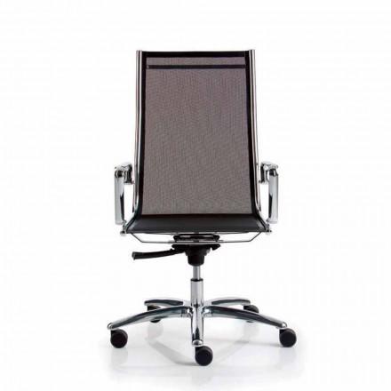 rețea scaun de birou executiv, spate mare, lumina Luxy