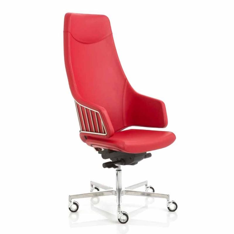 model de scaun de birou executiv de Luxy Italia, made in Italy
