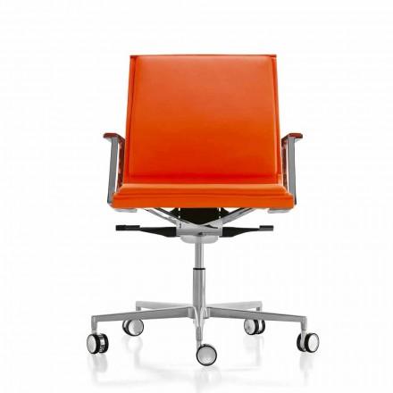 Scaun de birou ergonomic din piele sau material textil Nulite Luxy