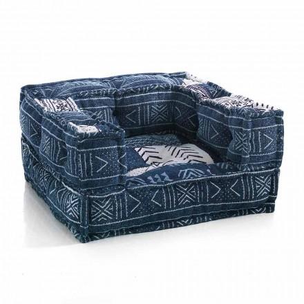 Fotoliu Lounge etnic din material patchwork sau catifea - fibră