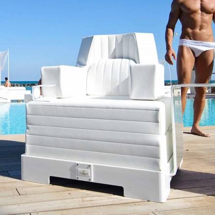 Plutitoare fotoliu Trona de design alb de lux, realizate în Italia