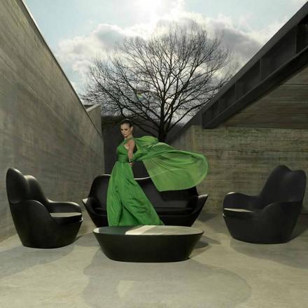 Fotoliu modern de gradina, realizat din polietilena, Sabinas de Vondom