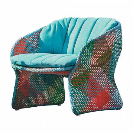 Fotoliu tapițat Lounge în aer liber, din fibră sintetică - Maat by Varaschin