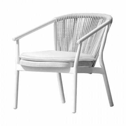 Fotoliu Lounge de grădină Tesatura tapițată și aluminiu - Smart by Varaschin