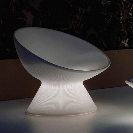 Fotoliu de exterior luminos din polietilenă cu lumină LED Fabricat în Italia - Desmond