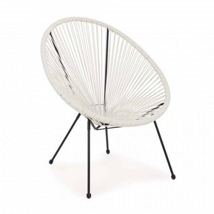 Fotoliu exterior de design modern din oțel vopsit - spumant