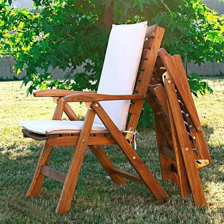Septembrie 2 scaune rabatabile in gradina din lemn de tec
