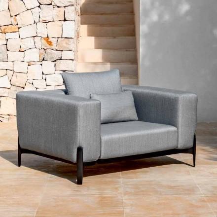 Fotoliu de grădină Relax aluminiu și țesături, design în 3 finisaje - Filomena
