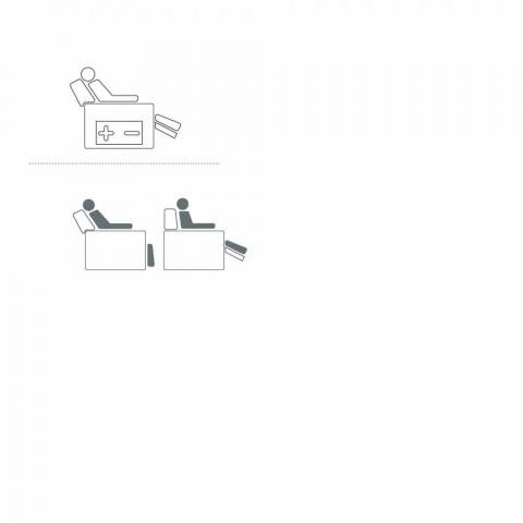 fotoliu rotativ motorizat de relaxare în piele material textil / piele / faux Gemma