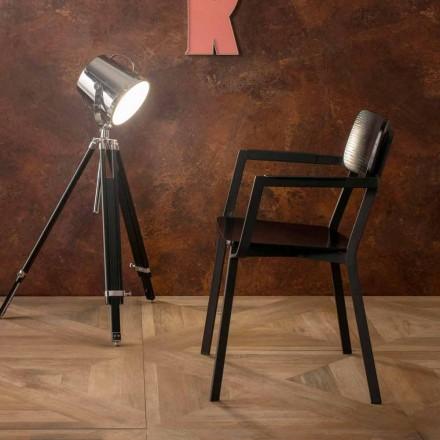 Fotoliu Elmas cu design modern din lemn și metal
