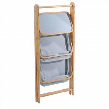 Accesorii de baie de designer din tesatura Vercelli și bambus