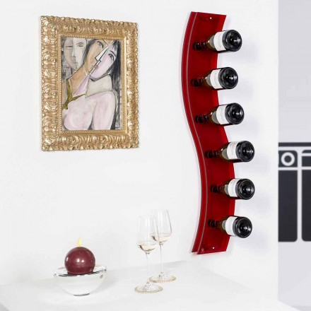 sticle Porta de designer de perete L26,5xH100xP9cm Serry rosso