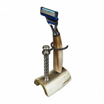 Suport pentru aparat de ras fabricat manual din corn sau lemn cu aparat de ras fabricat în Italia - Diplo