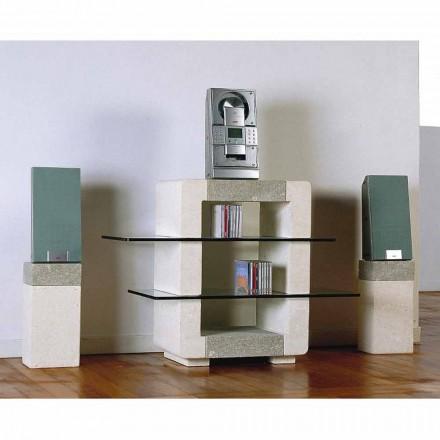 Stație TV Hi-Fi în Vicenza Piatră și cristale, Xeni sculptate manual